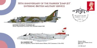"BFPS 3222 50th Anniversary of the ""Harrier Jump-Jet"" Entering British Military Service"