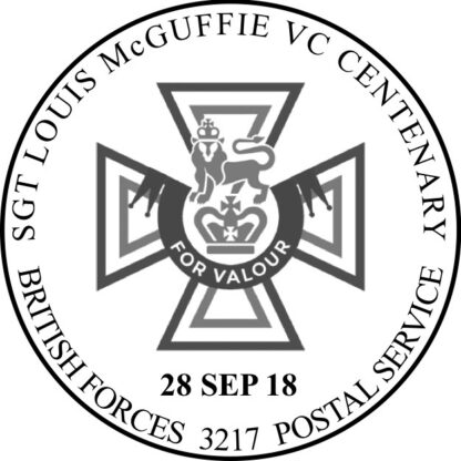 BFPS 3217 Special Handstamp Sgt McGuffie VC Centenary