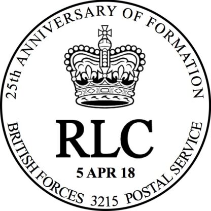 25th Anniversary of Founding of The RLC Special Handstamp